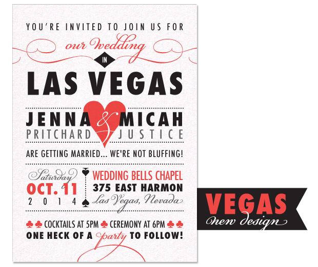 Wedding Invitations Vegas Skyline By Janelle Otsuki