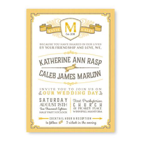 Vintage Wedding Invitations Retro