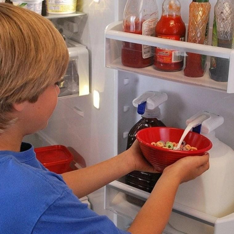 Great way to make mornings easier! Breakfast hack for kids!