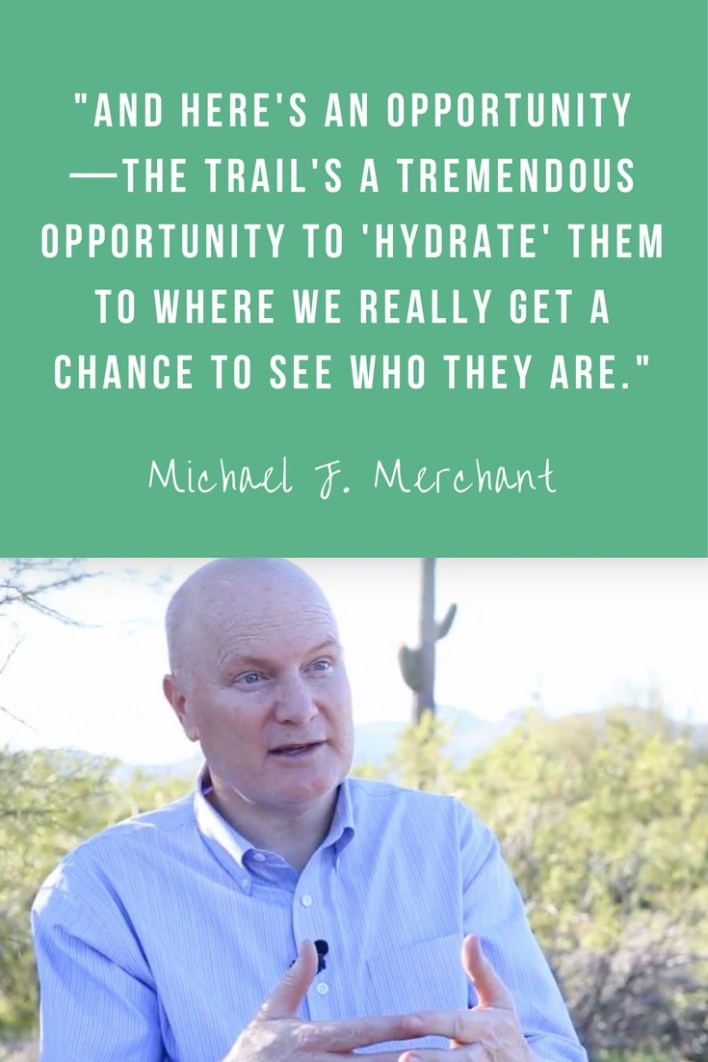 "We all know that hydration is important for our physical health. But according to Michael J. Merchant, the President of Anasazi Foundation, it's also important to ""hydrate"" in a mental, emotional, and spiritual way."