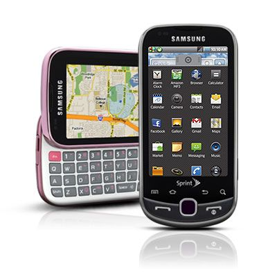 Samsung Intercept in two colors including Pink