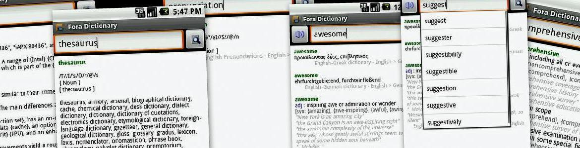 FORA Dictionary for Android