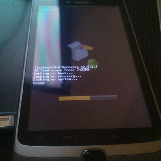 G2 Clockwork Recovery ROM Manager