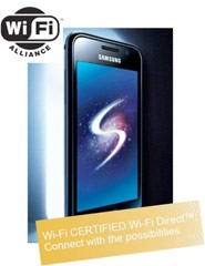 WiFi Direct Samsung Galxy S