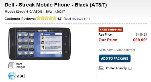 Dell Streak Best Buy Offer