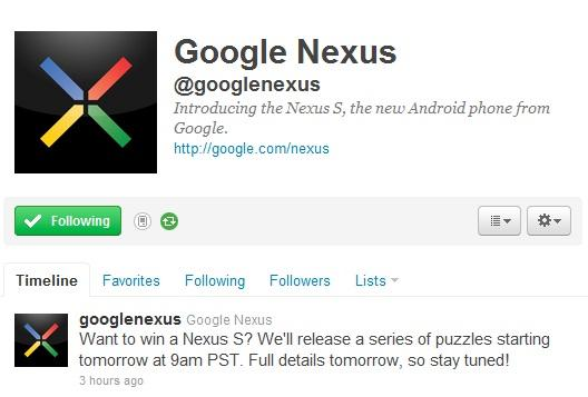Win Free Google Nexus S Offer