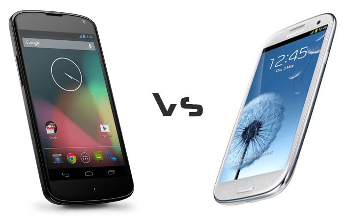 Nexus 4 vs Galaxy S3