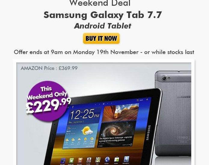 Galaxy Tab 7.7 Price