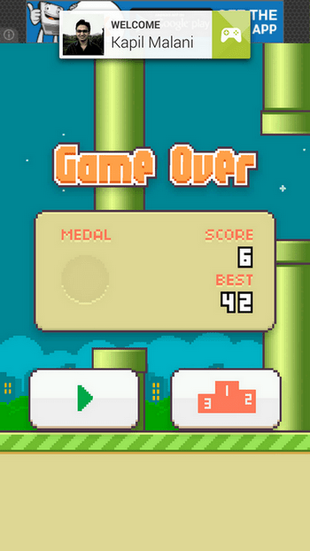 Flappy Bird Game Score