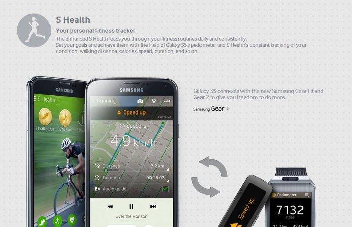 Galaxy S5 S Health