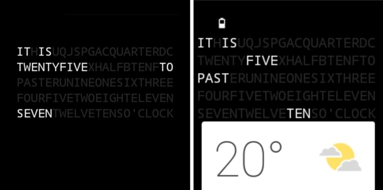 Text Watchface