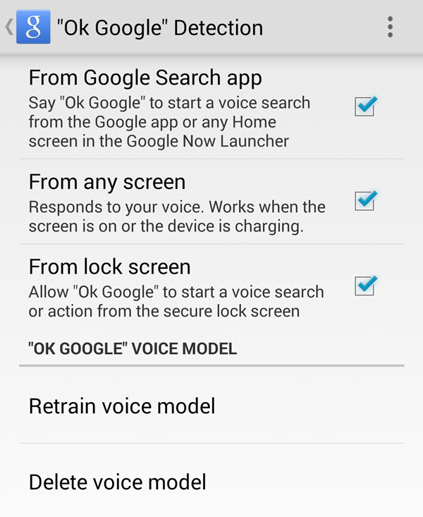 Ok Google Detection Galaxy Note 4