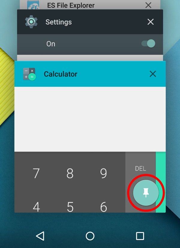 Pin Screen on Android 5.0 Lollipop