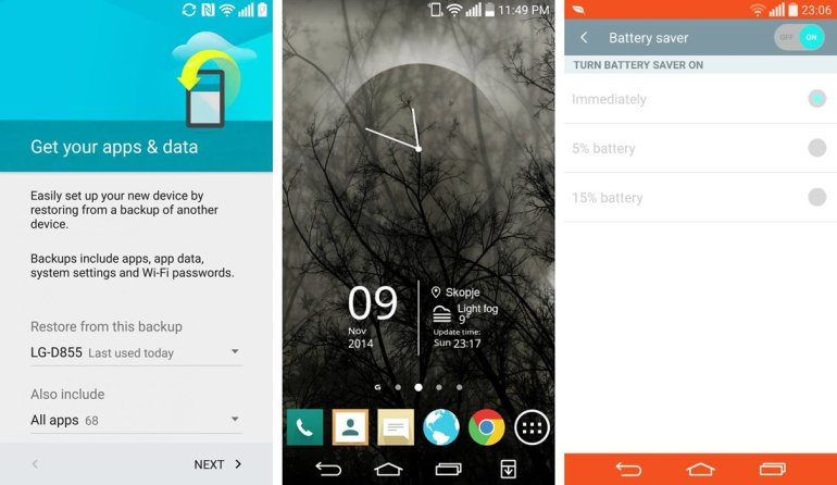 LG G3 Android 5.0 Lollipop Screenie 2