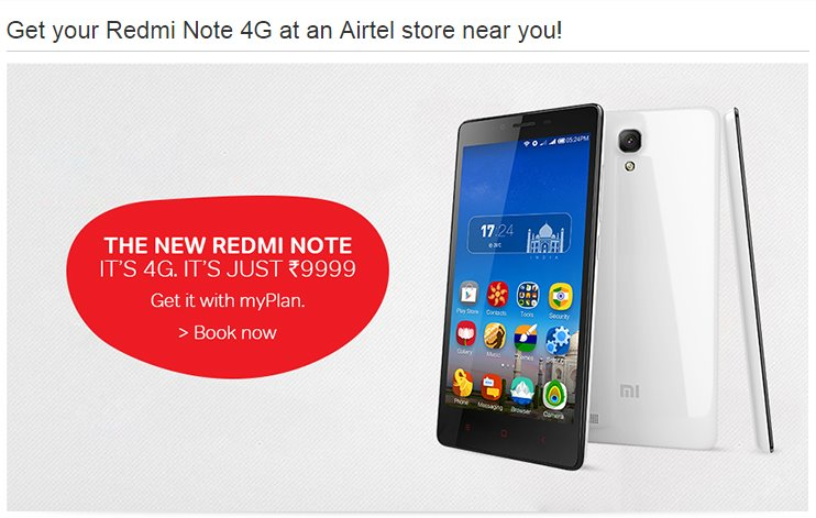 Airtel Redmi Note 4G