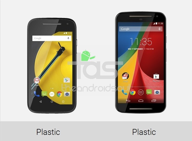 Moto E 2015 vs Moto G 2015 Build