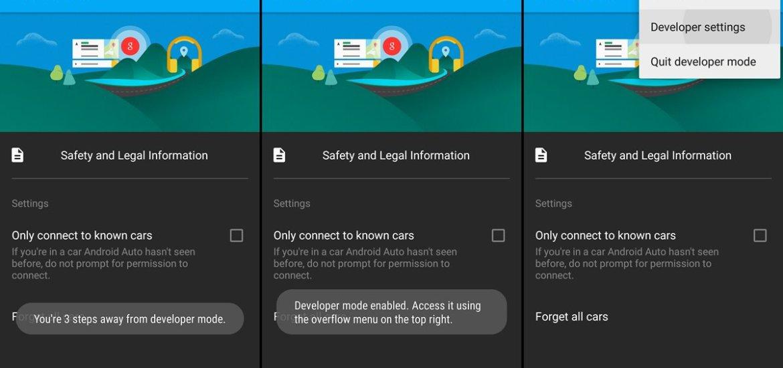 Android Auto Developer Mode