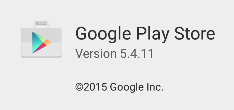 Google Play Store version 5.4.11