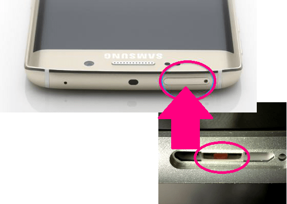 T-Mobile Galaxy S6 Edge Pink/Red Water Damaged