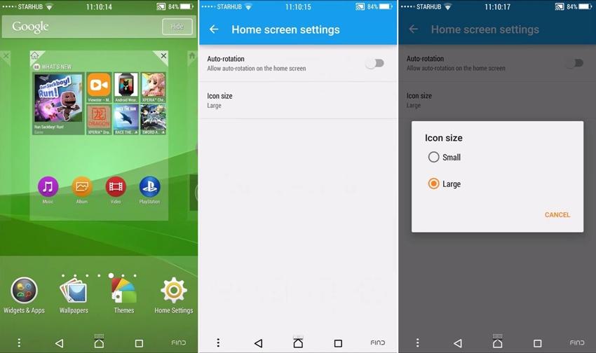sony xperia z4 z3+ launcher app