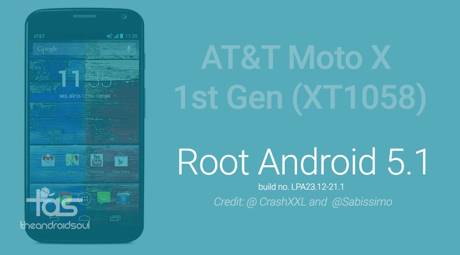 AT&T Moto X root 5.1 update