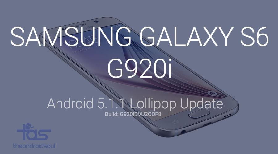 Galaxy S6 G920i 5.1.1 update