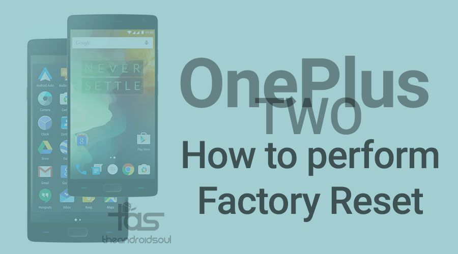 OnePlus Two Factory Reset