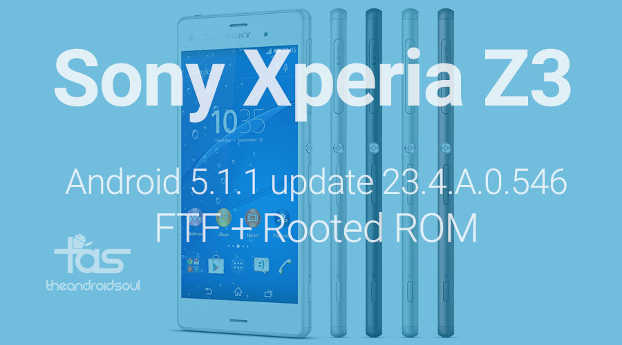 Xperia Z3 5.1.1 FTF and Rooted ROM