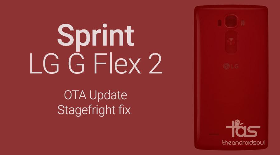 Sprint LG G Flex 2 stagefright update