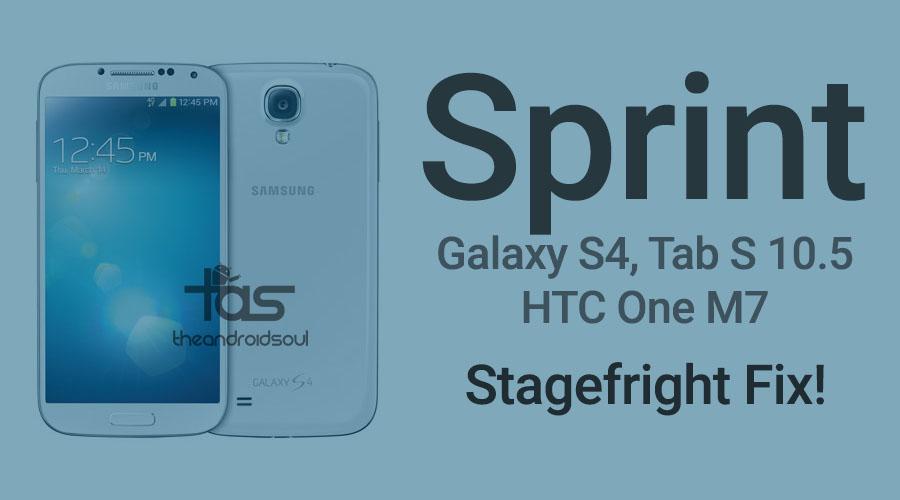 sprint galaxy s4 tab s 10.5 one m7 update