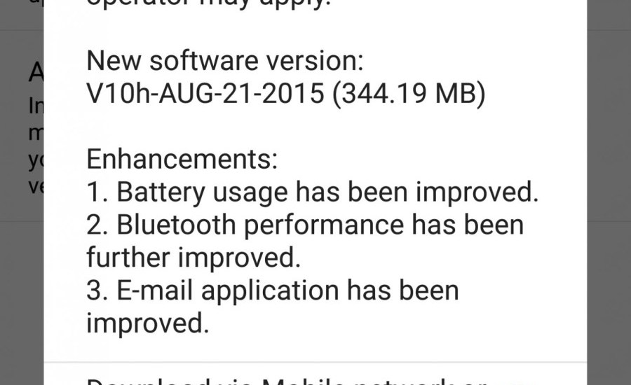 LG G4 V10H Update