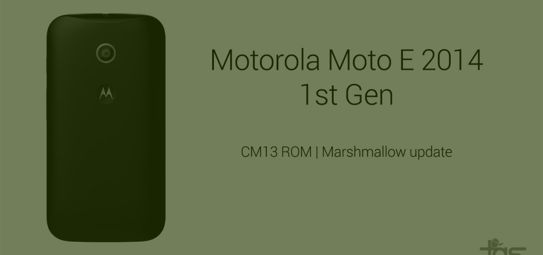Moto E1 Marshmallow update
