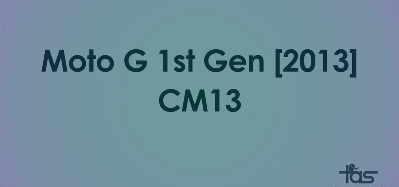 Moto G 2013 CM13