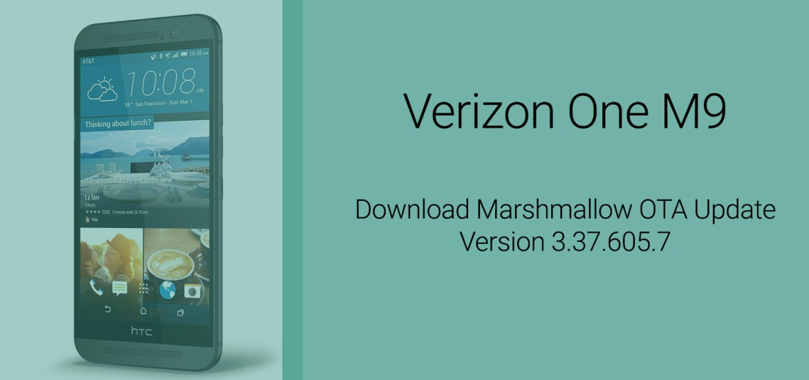 Verizon One M9 Marshmallow OTA download