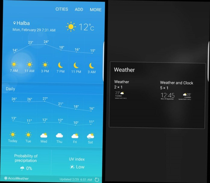 Galaxy S7 Weather App Download