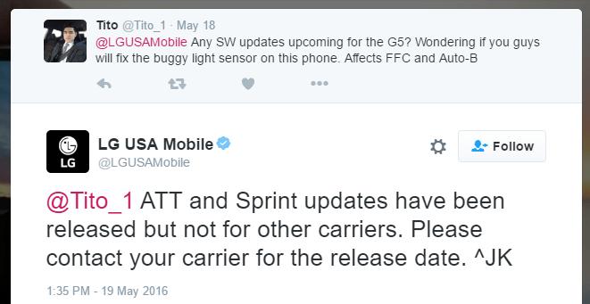 lg g5 sprint att update