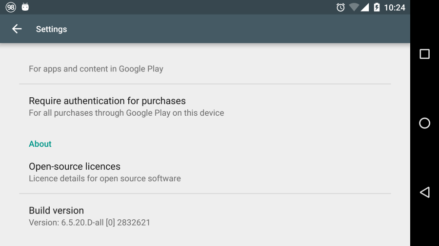 play store 6.5.20