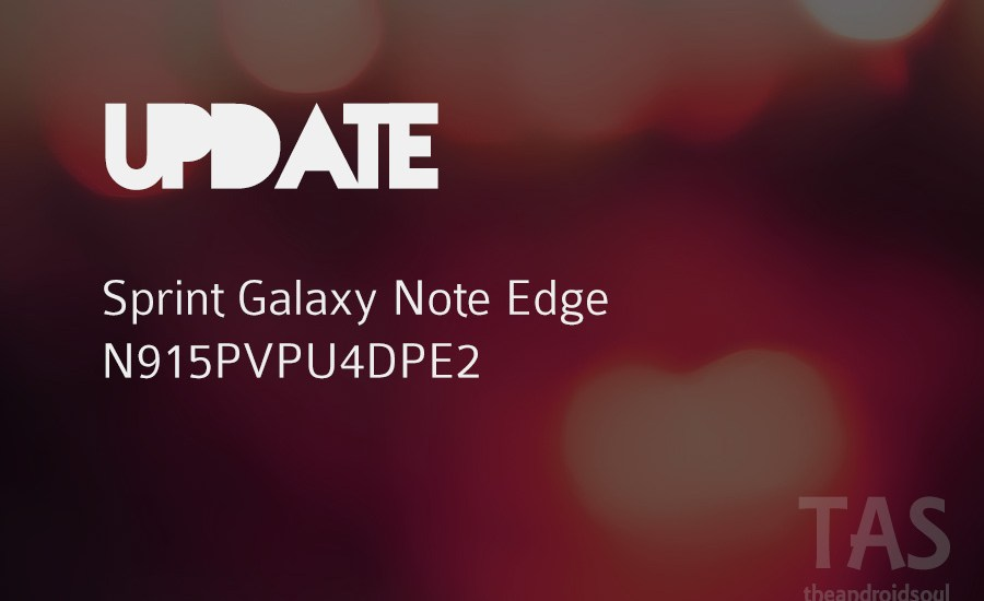 sprint note edge pe2 update