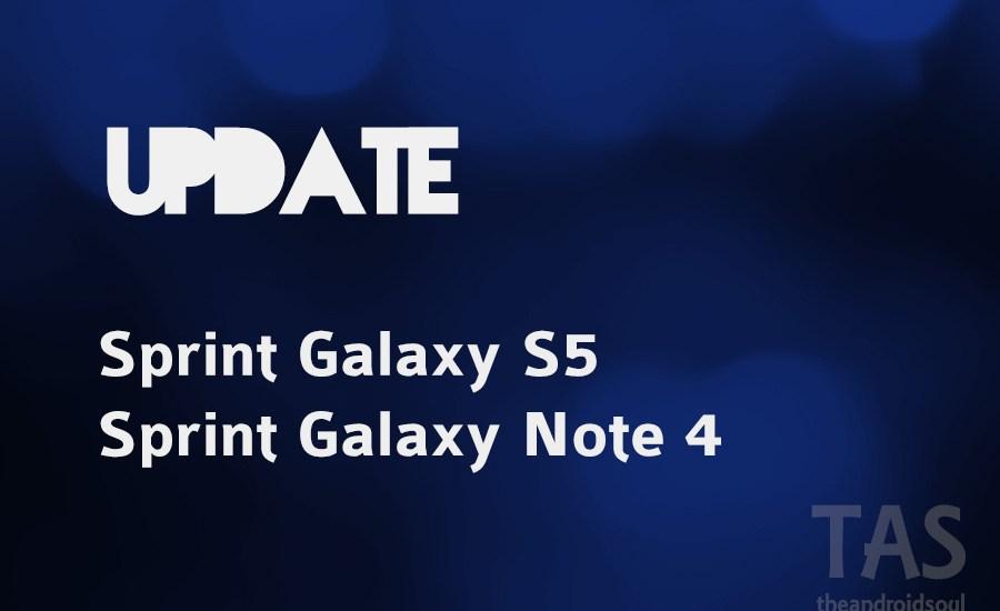 sprint pe2 update note 4 galaxy s5