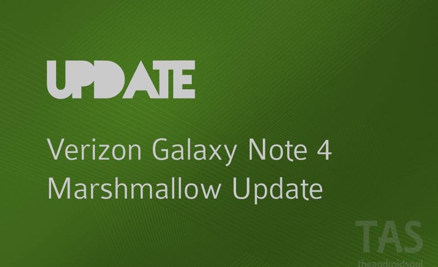 verizon note 4 Marshmallow update