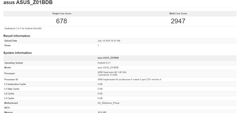 Zenfone 3 Laser leak