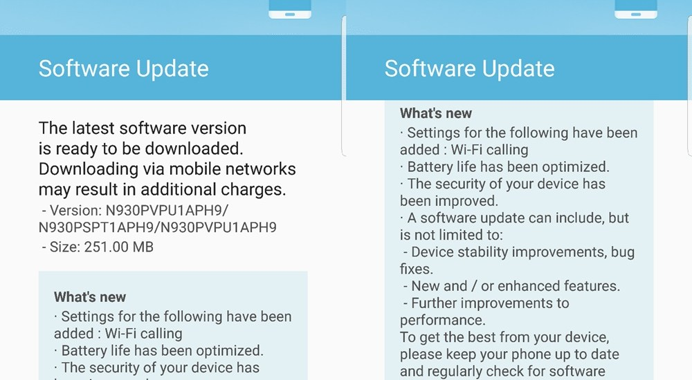 sprint note 7 update