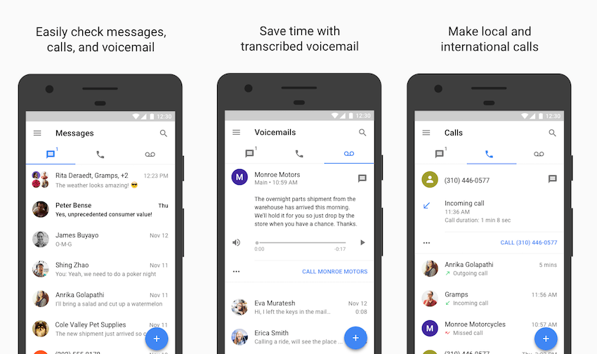 Google Voice receives huge update that adds DND, GIF image