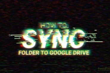 folder sync google drive