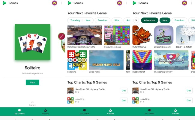 Google Play Games Introduces Arcade Section In Latest