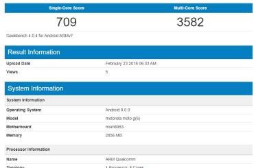 Moto G6 benchmarks