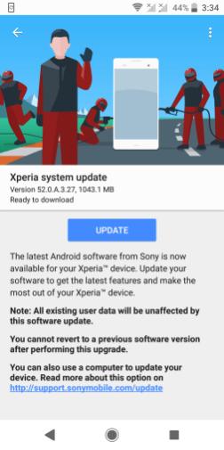 Xperia XZ2 Pie update-1