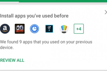 Play Store's new recommended feature