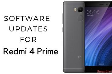 Xiaomi Redmi 4 Prime software updates