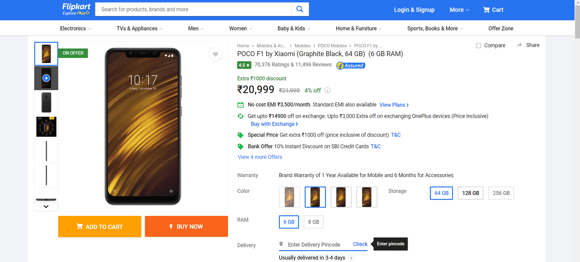 should you buy poco f1 over oneplus 6t price